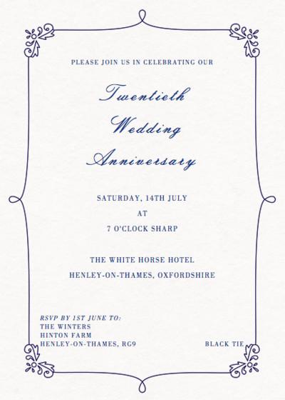 Monaco | Personalised Anniversary Invitation