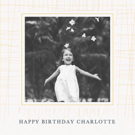 Cross Hatch Photo | Personalised Birthday Card