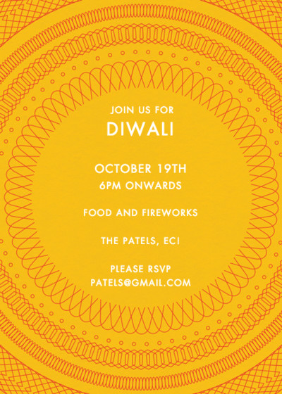 Diwali Spiral | Personalised Invitation