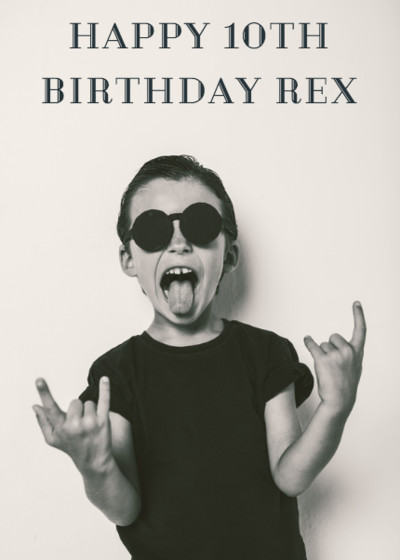 Portrait Birthday | Personalised Birthday Card
