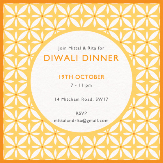 Diwali Tile | Personalised Invitation