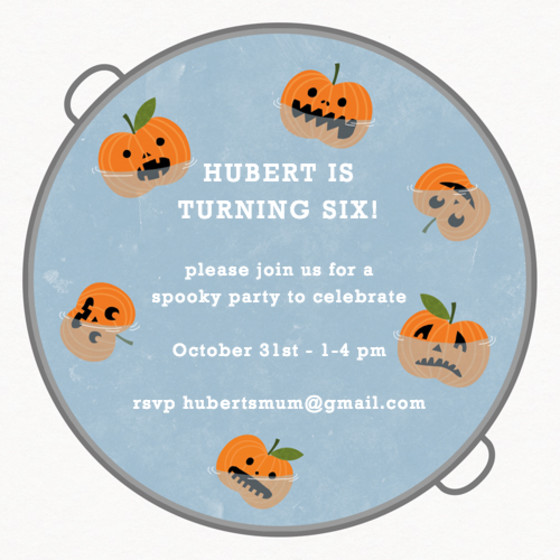 Halloween Apple Bobbing | Personalised Party Invitation