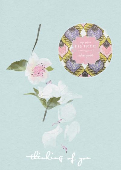 Figtree & Flowers | Personalised Greeting Card