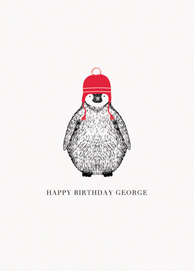 Penguin | Personalised Birthday Card