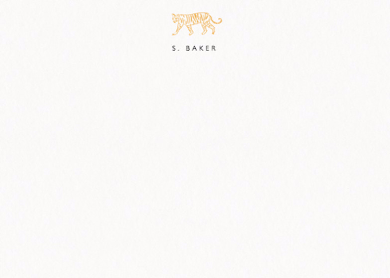 Tiger | Personalised Stationery Set