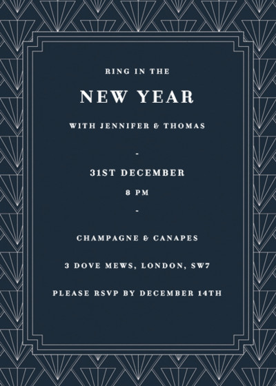 Gatsby   Personalised Party Invitation