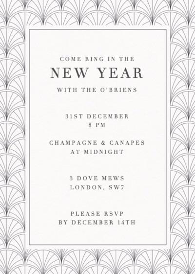 Art Deco   Personalised Party Invitation