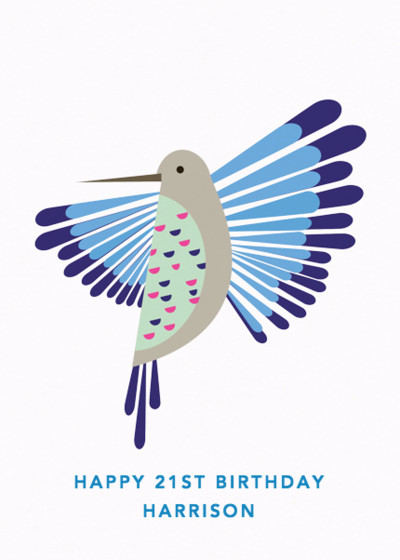 Humming Bird | Personalised Birthday Card