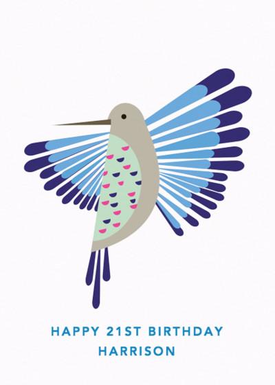 Humming Bird | Personalised Birthday Card