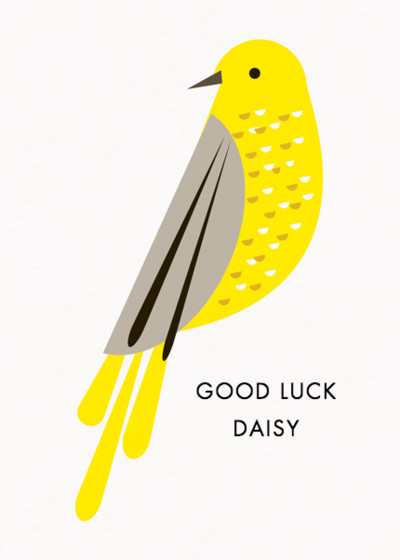 Songbird | Personalised Good Luck Card