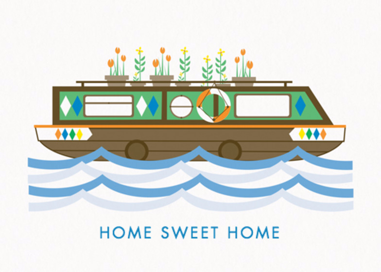 Houseboat | Personalised Congratulations Card