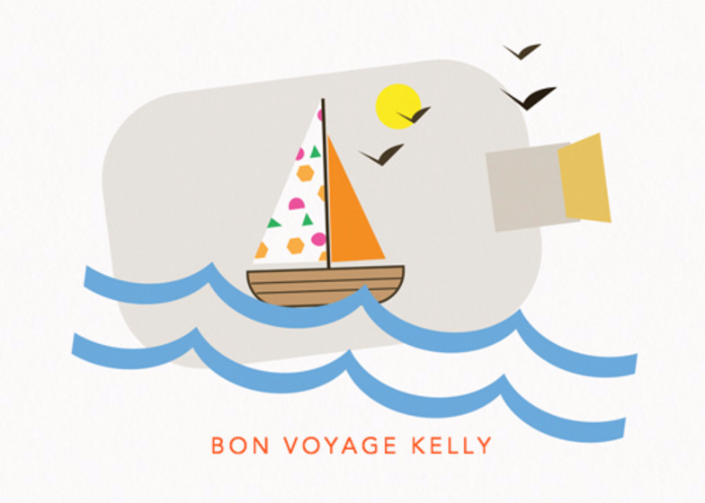Sailboat In A Bottle | Personalised Good Luck Card