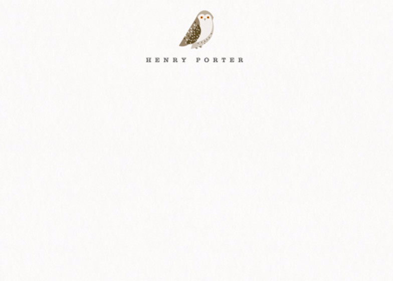 Snowy Owl | Personalised Stationery Set