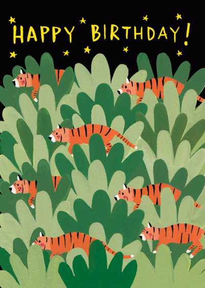 Panthera Tigris   Personalised Birthday Card
