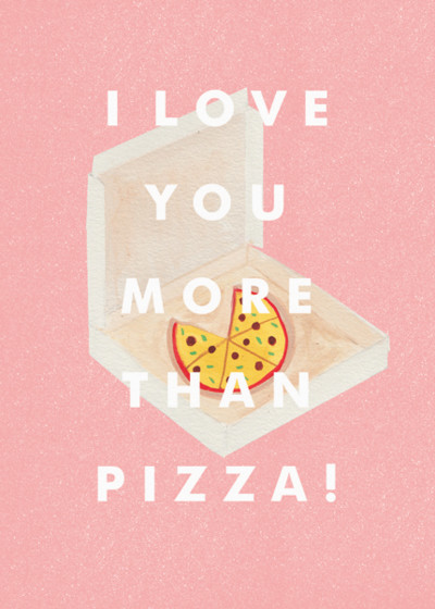 Pizza Time | Personalised Greeting Card