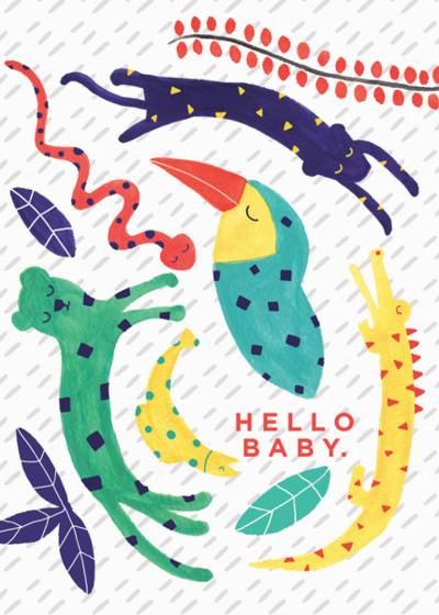 Jungle   Personalised Congratulations Card