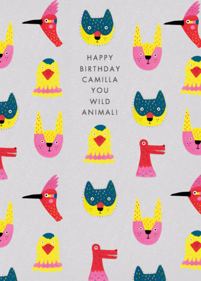 Wild Animal | Personalised Birthday Card