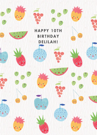Fruit Faced | Personalised Birthday Card