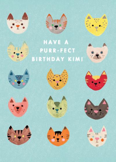 Kitty Pride | Personalised Birthday Card