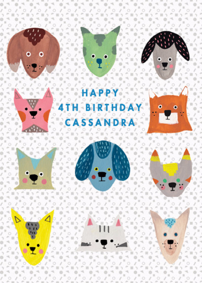 Doggie Party | Personalised Birthday Card