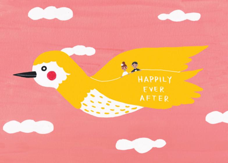 Golden Bird   Personalised Congratulations Card