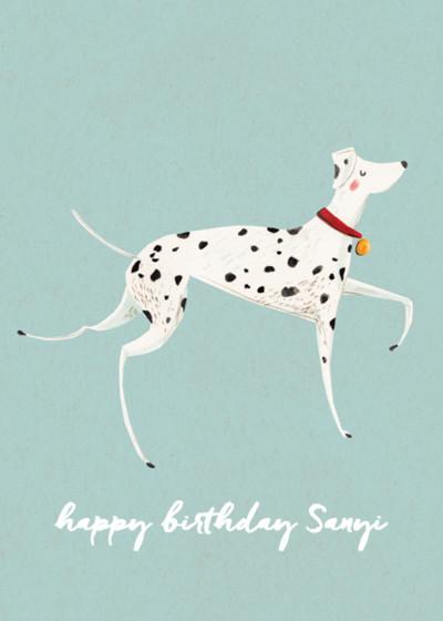 Dalmatian | Personalised Birthday Card