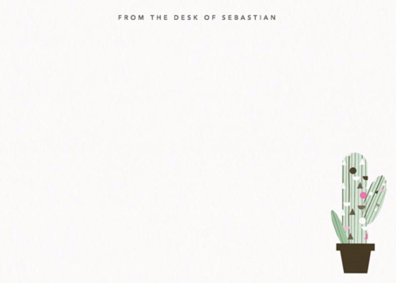 Cactus | Personalised Stationery Set