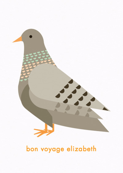 Pigeon | Personalised Good Luck Card
