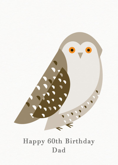 Snowy Owl | Personalised Birthday Card