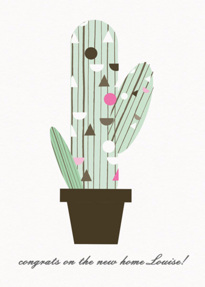 Cactus | Personalised Congratulations Card
