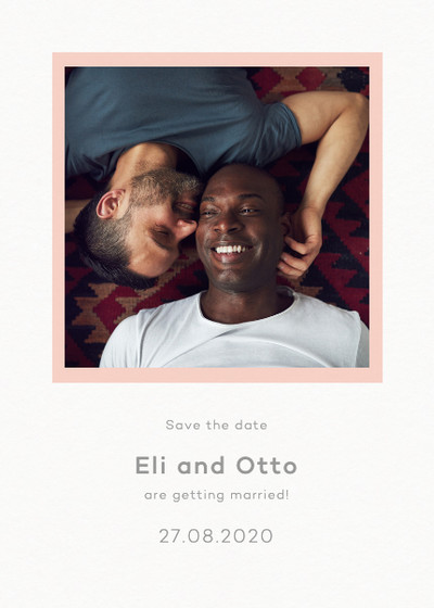 Frame Blush Photo | Personalised Save The Date