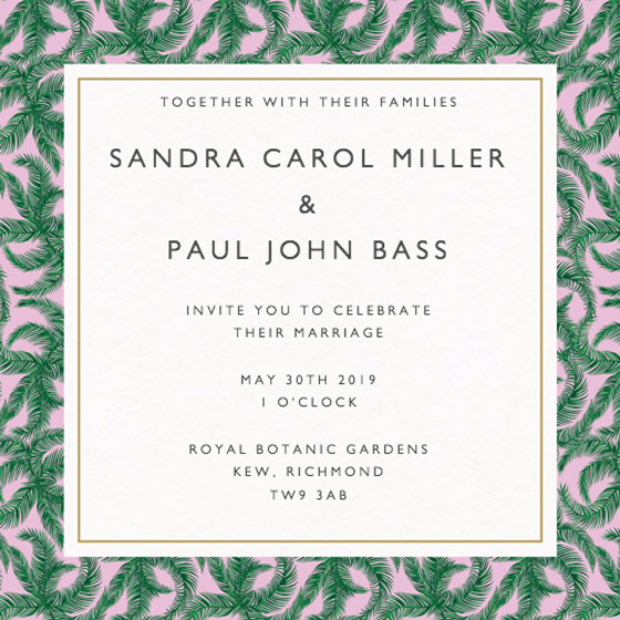 Panom   Personalised Wedding Invitation