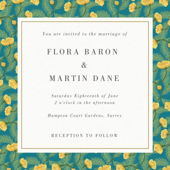 Chard   Personalised Wedding Invitation