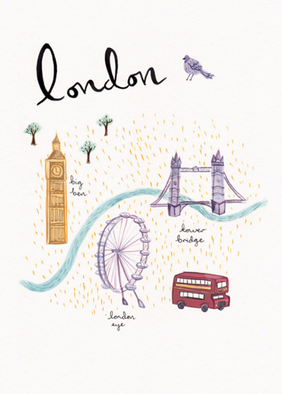 London | Personalised Good Luck Card