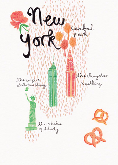 New York | Personalised Good Luck Card