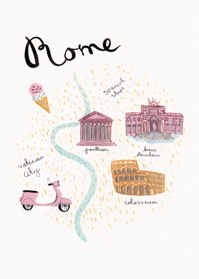 Rome | Personalised Good Luck Card