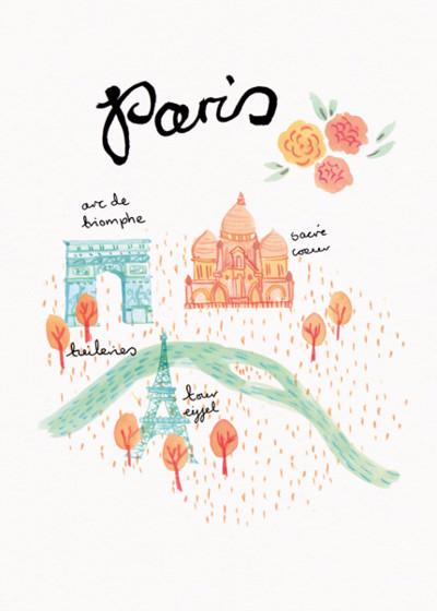 Paris | Personalised Good Luck Card