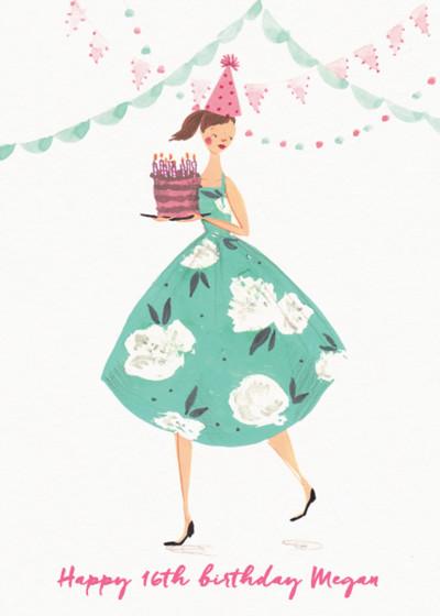 Birthday Girl   Personalised Birthday Card