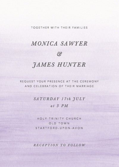 Orchid Ombré | Personalised Wedding Invitation