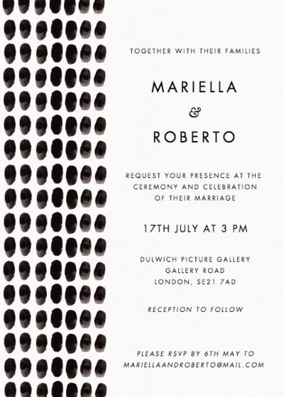 Inked | Personalised Wedding Invitation