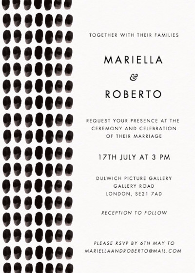 Inked | Personalised Wedding Invitation
