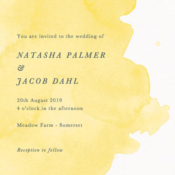 Buttercup Watercolour | Personalised Wedding Invitation
