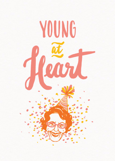 Young At Heart | Personalised Birthday Card