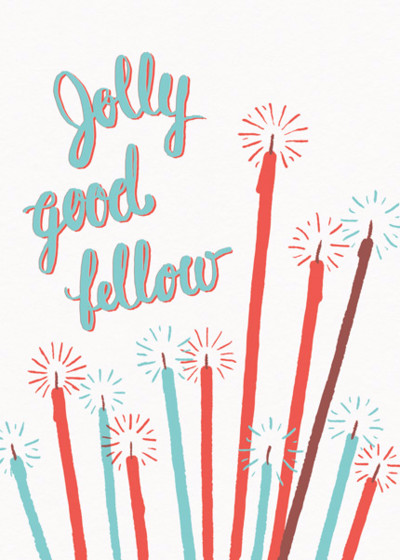 Jolly Good Fellow | Personalised Birthday Card
