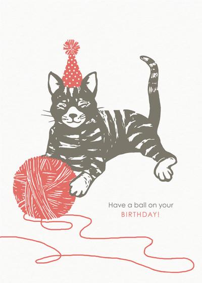 Birthday Kitten   Personalised Birthday Card