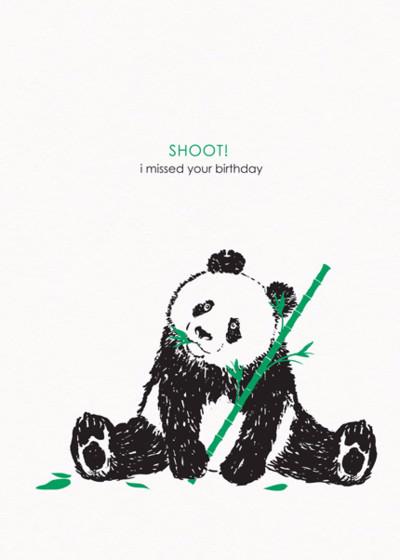 Shoot!   Personalised Birthday Card