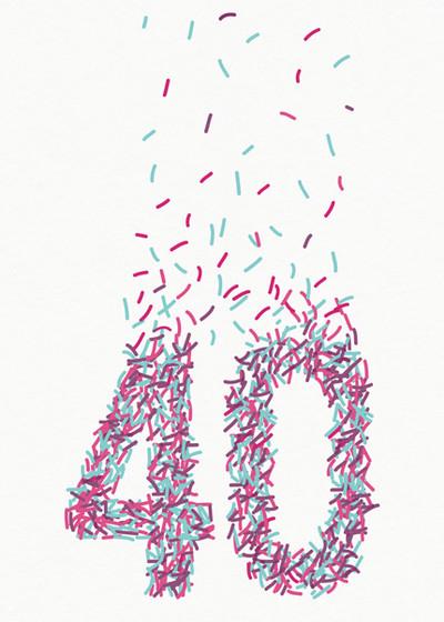 40th Sprinkles   Personalised Birthday Card