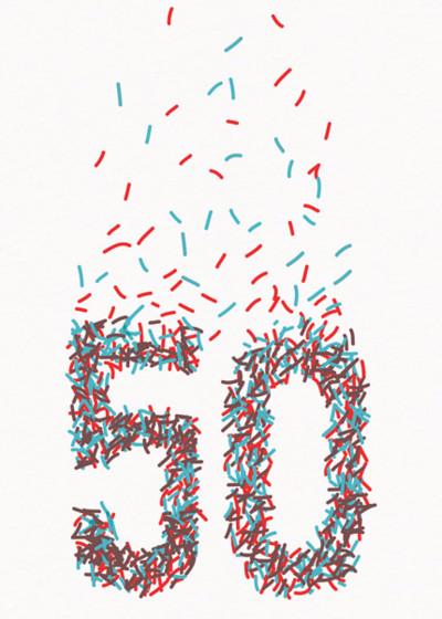 50th Sprinkles | Personalised Birthday Card