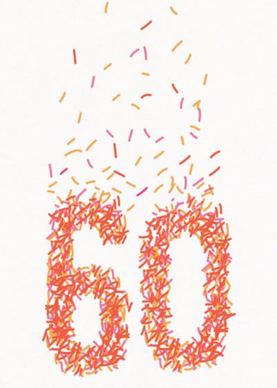 60th Sprinkles | Personalised Birthday Card