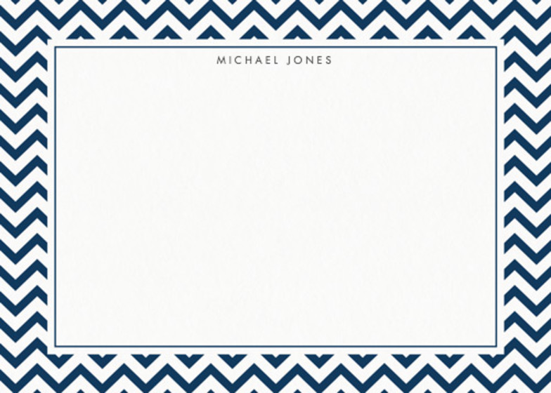 Navy Chevrons | Personalised Stationery Set